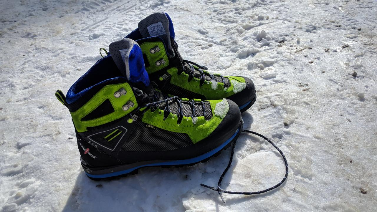 Shoes Trekking MOUNTAIN-climbing Hiking KAYLAND CROSS MOUNTAIN GTX Anthracite